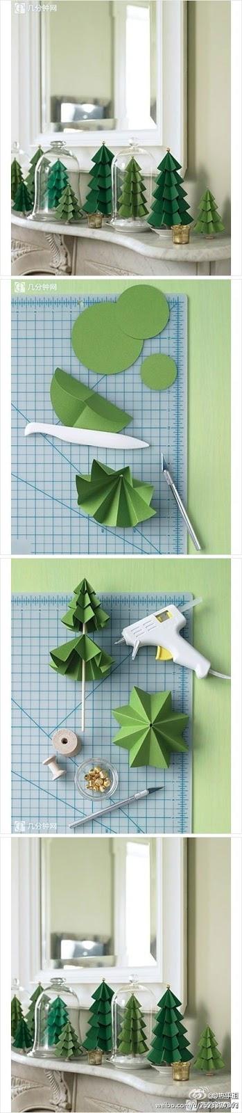 Pinheirinho de natal feito de papel