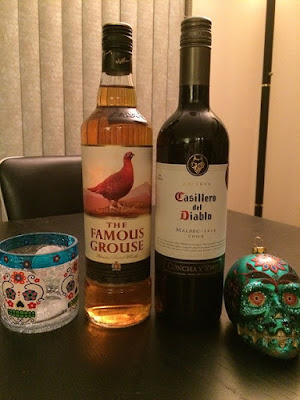 Casillero Del Diablo 2014 Malbec and The Famous Grouse Scotch