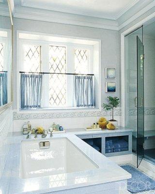 Unexpected interiors modern english tudor style for Tudor bathroom design