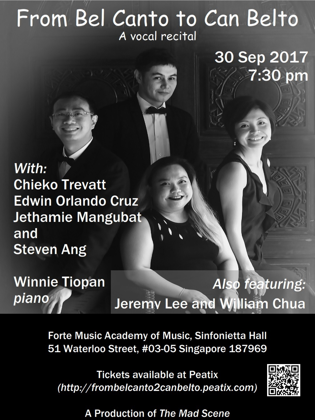 Vocal Recital: From Bel Canto to Can Belto - 30 Sep 2017