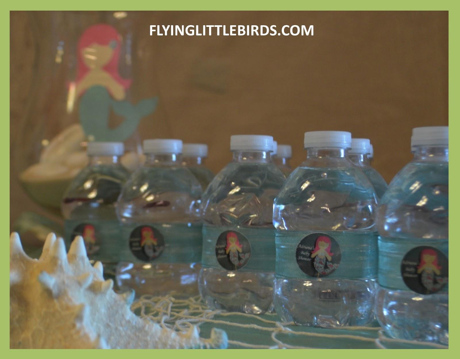 flying little birds little mermaid baby shower