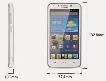 Dimensi ukuran Huawei Ascend Y511