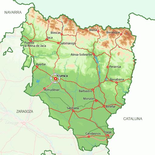 Broto Spain  City pictures : Huesca Mapa Ciudad de la Región | España mapa de la ciudad