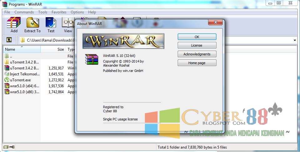 Download Winrar 5.10 Beta 4 32bit & 64bit Full + Patch