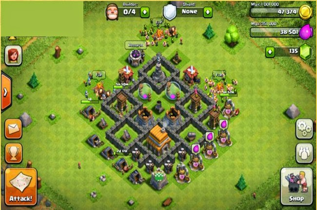Town Hall level 5 Clash of clans