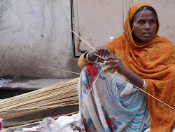 Basket weaver in Pushkar, Rajasthan