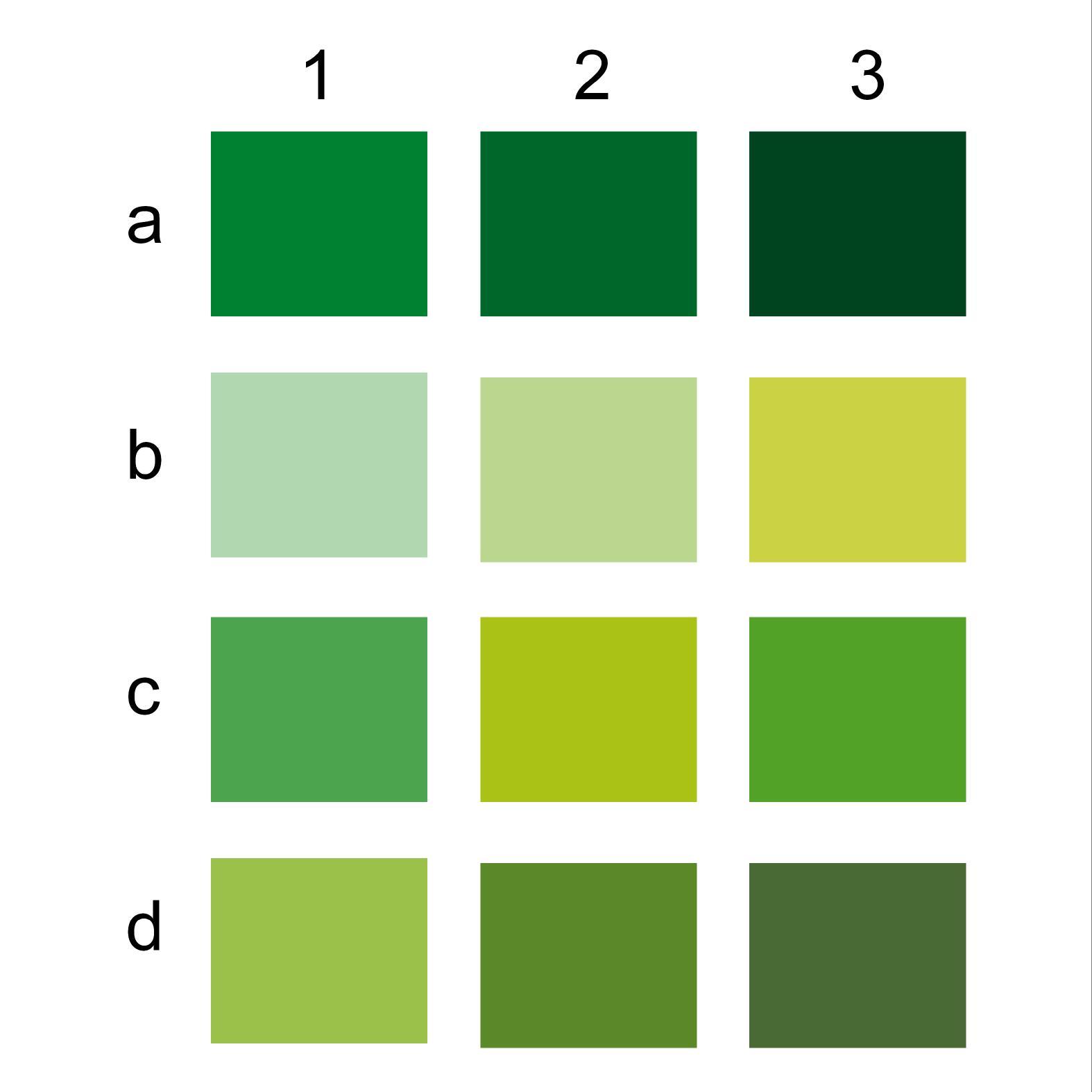 gambar warna hijau