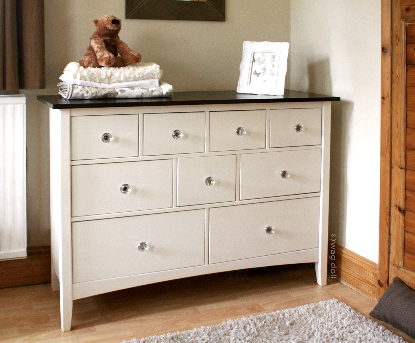 A Nursery Chest Of Drawers How To Spray Paint Furniture