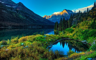 Resources - Mountain Lake with Trees Scenery