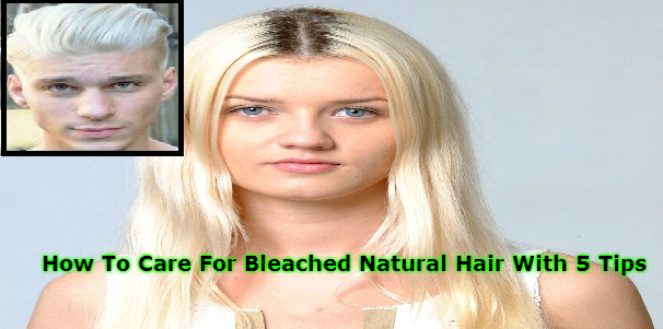 Bleached Natural Hair Woman