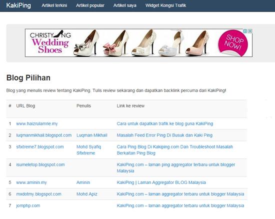 Blog pilihan dalam Kakiping.com