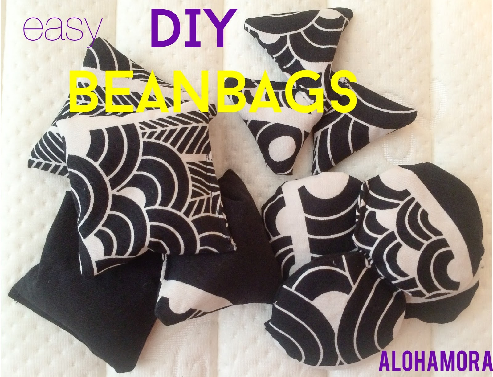 Easy DIY Homemade Beanbags with a free printable pattern for square, circle, and triangle beanbags.  Easy to make, cheap (dry beans and scrap fabric are your only costs), and the kids LOVE playing with them.  Easy sewing pattern for beginners.  Alohamora Open a Book http://www.alohamoraopenabook.blogspot.com/
