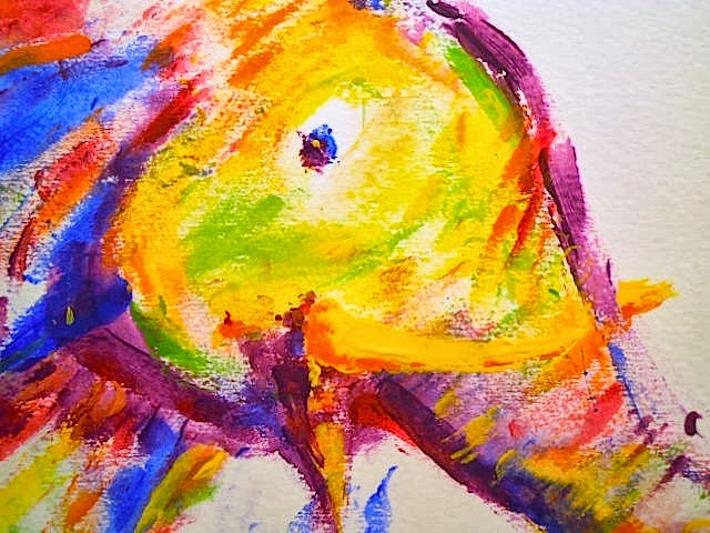 an elephant a day 2 0 elephant no 44 finger painting