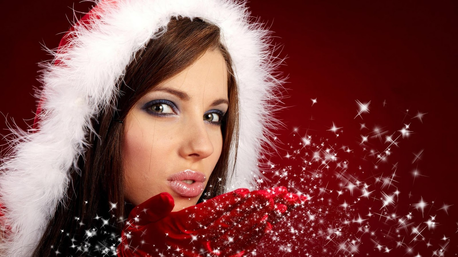 Hot christmas girls hd babes wallpaper free download pixhome for Pretty christmas pics