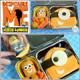 Despicable Me Minion Sandwich Bento with Twinkie