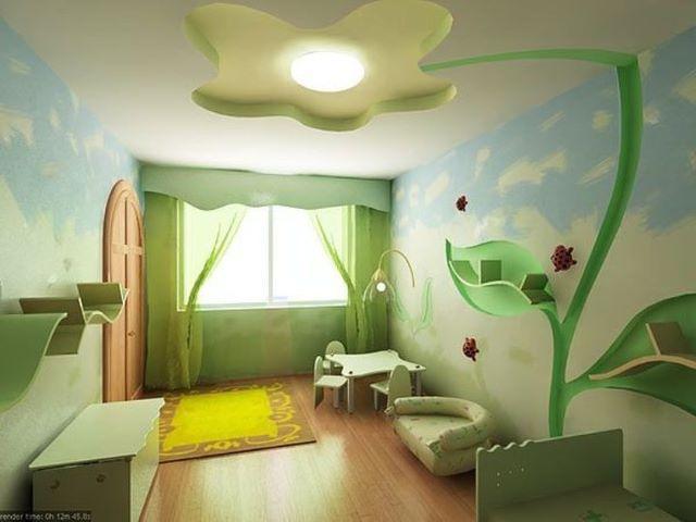 ديكورات اسقف غرف نوم اطفال