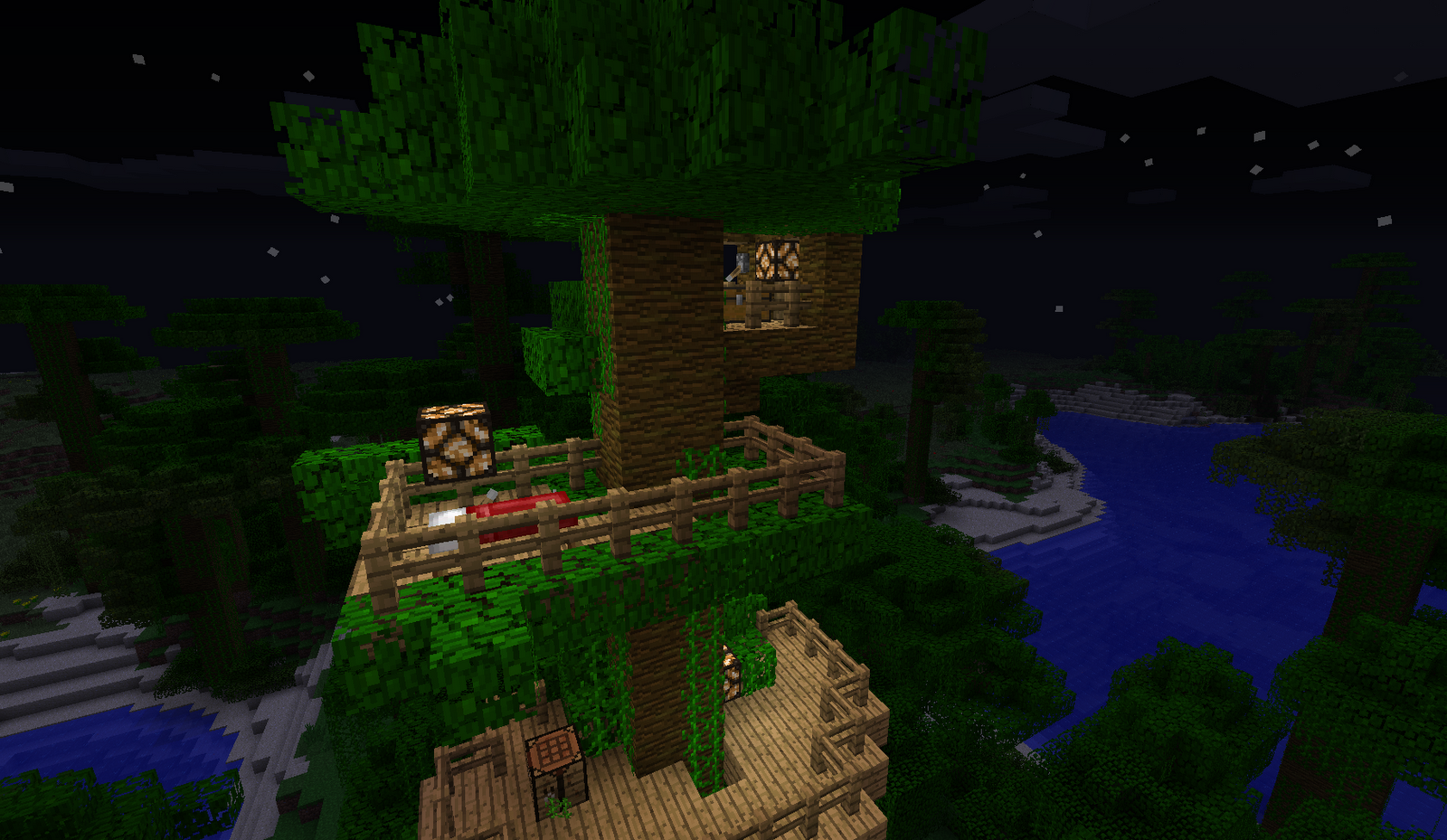 Minecraft treehouse xbox 360 the image for House build ideas
