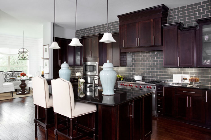 Interiors Kitchen Design  what to do above the wall cabinets