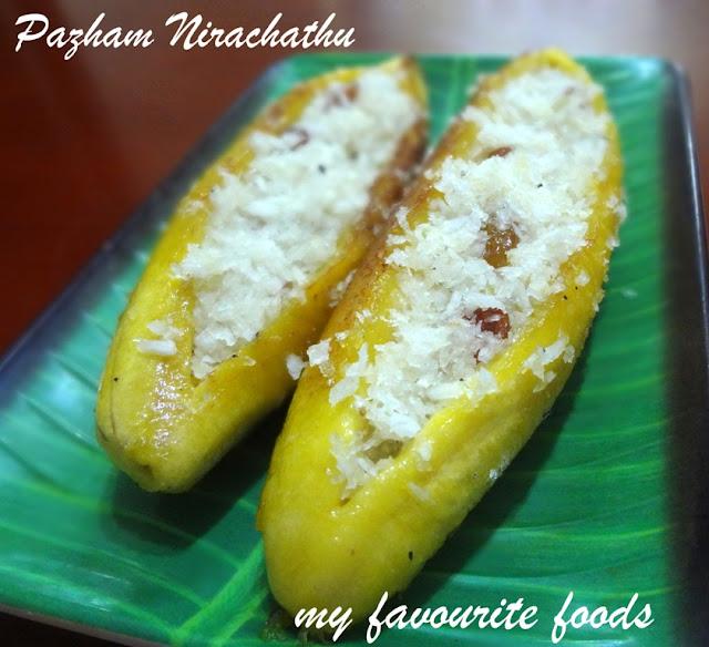 Pazham Nirachathu (Stuffed Plantain)