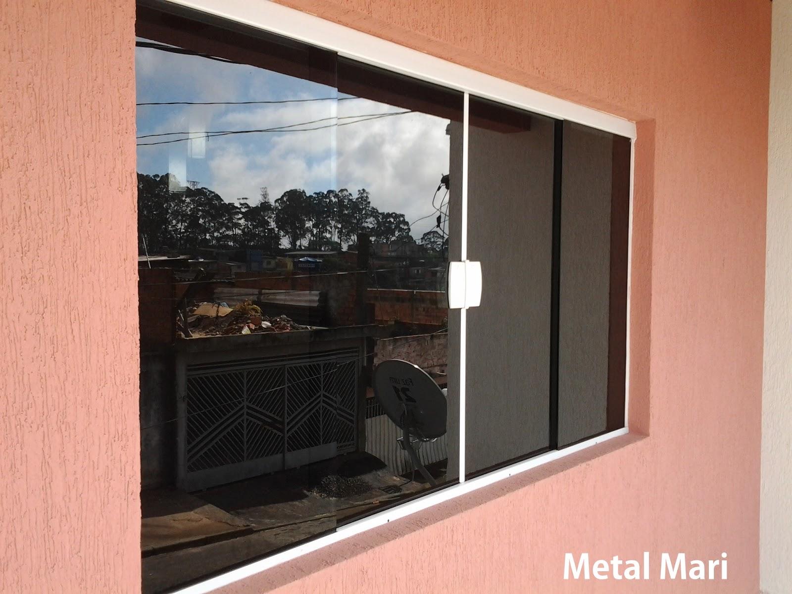 #A93D22 Metal Mari Esquadrias : Vitro de vidro fumê temperado 8 mm (Metal  2004 Janela De Aluminio Vidro Fume