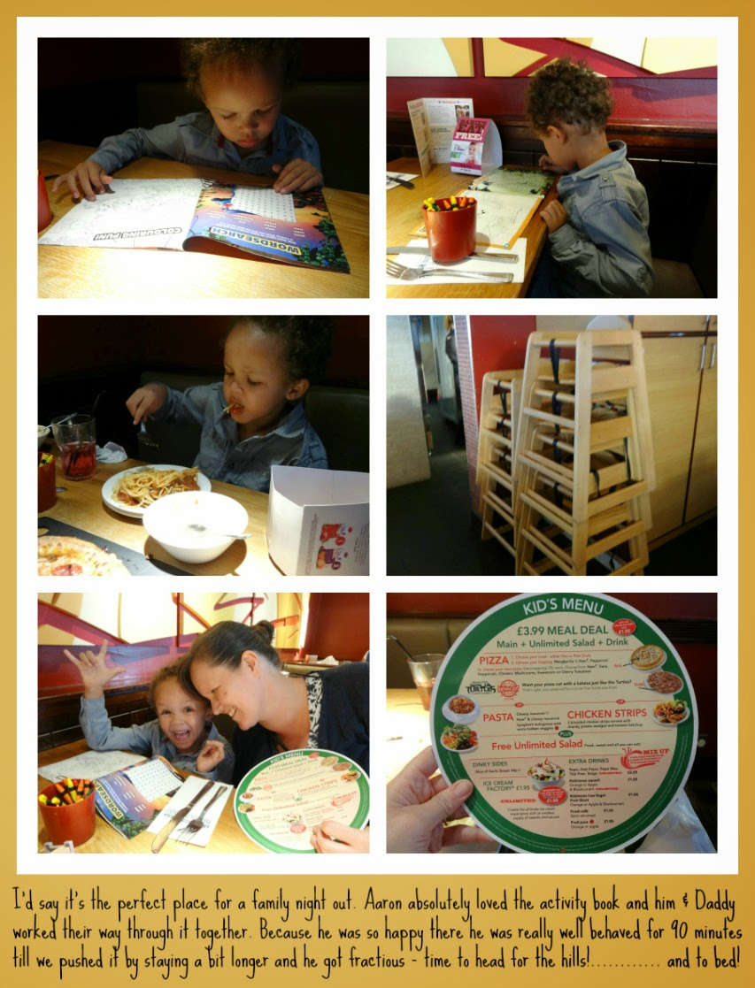 Family meal out at Pizza Hut UK
