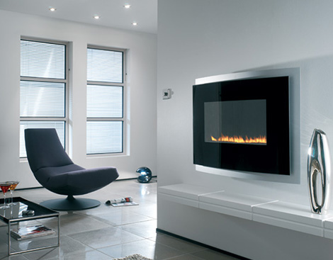 Modern Fireplace Living Room Design : Decor4u: Fireplace Design Ideas