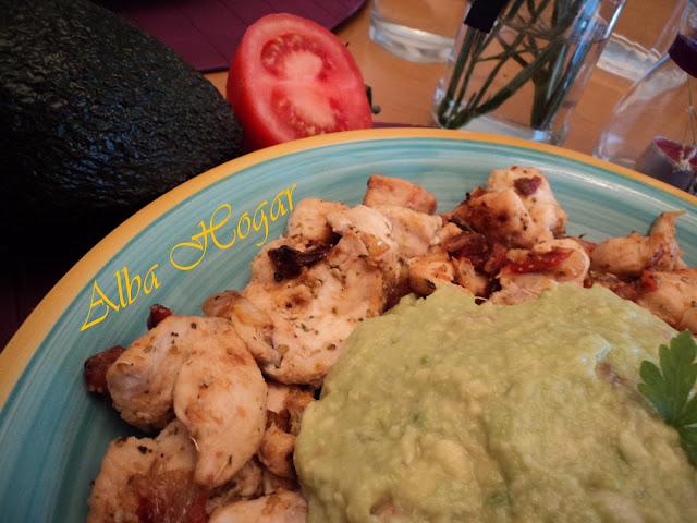 pollo con guacamole alba hogar