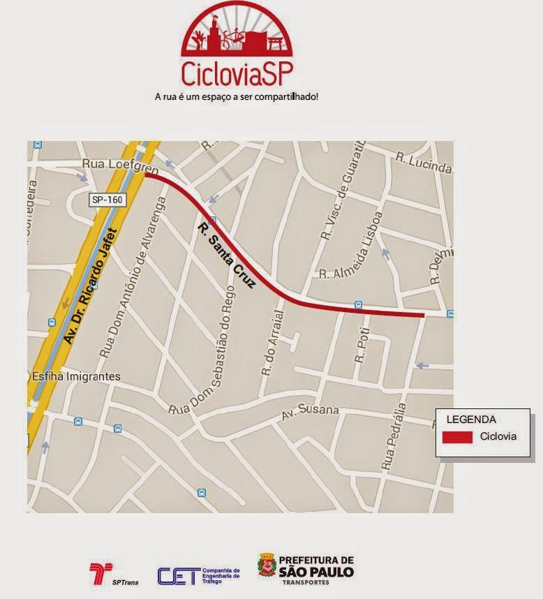 Ciclovia Rua Santa Cruz