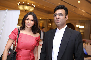 Mr. Tarun Shienh with Kalyani Chawla at Assocham Luxury Summit