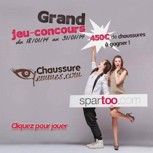 jeu concours chaussure-femmes.com spartoo