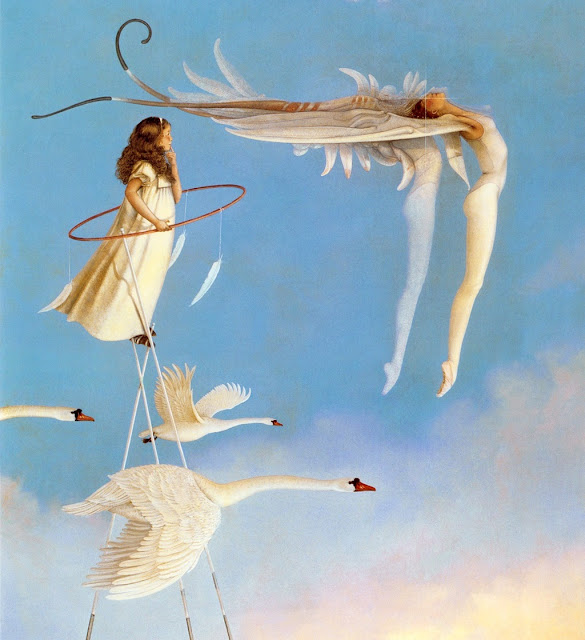 Swan Spirit, little girl,Micheal Parkes