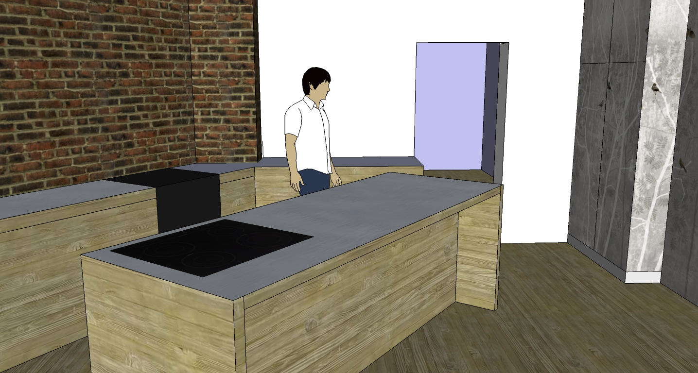 The Old Swede Kitchen In Google Sketchup