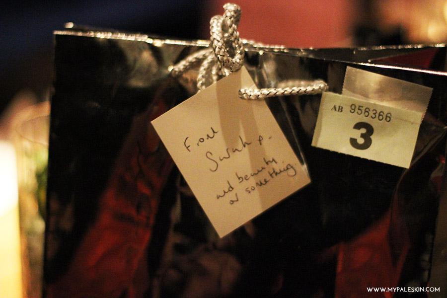 goody bag, blogger meet up, london blogger meet up