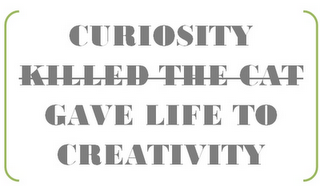 curiosity with kills the cat marked out and gave life to creativity put in its place