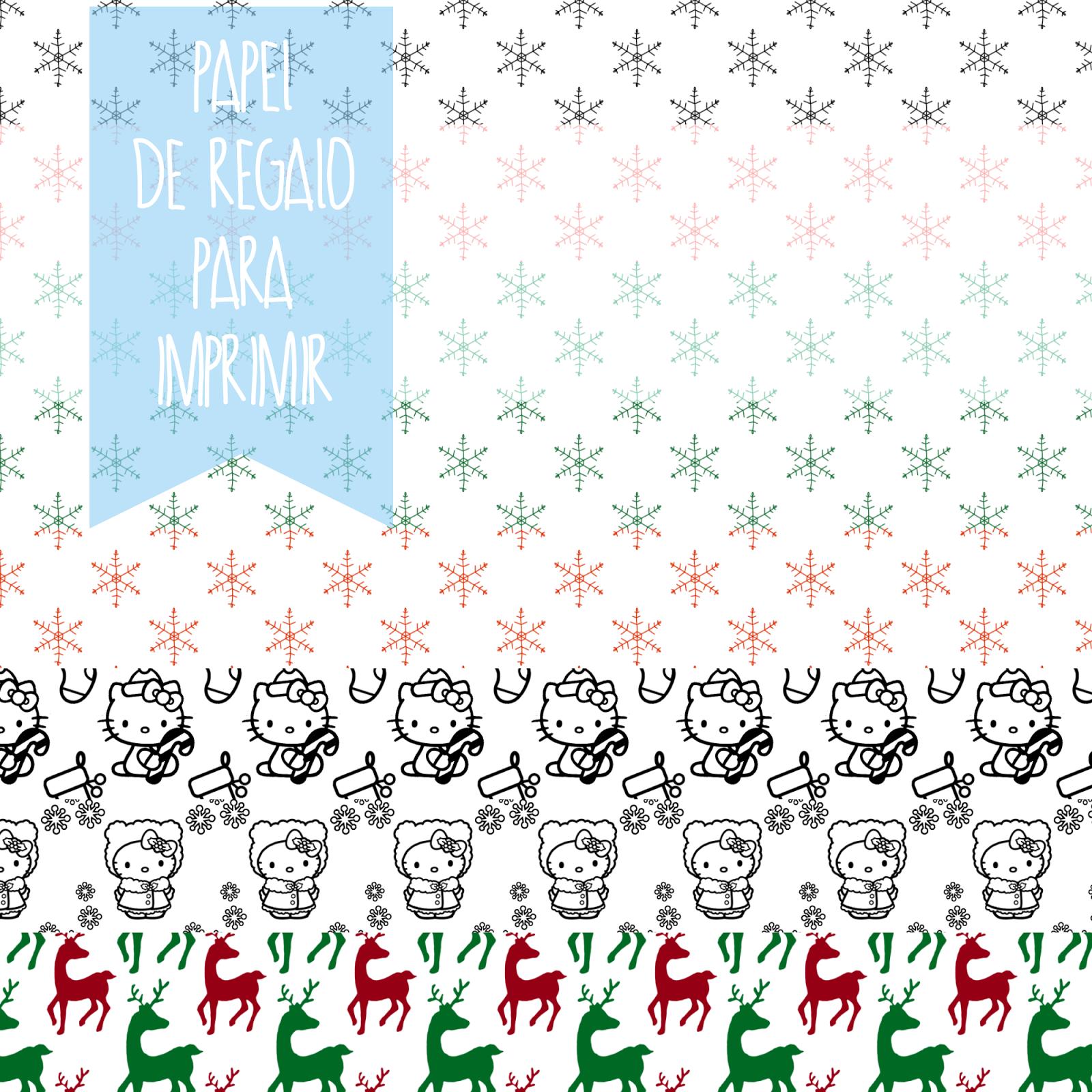 O Recuncho de Jei: Navidad modo on! Papeles de regalo para imprimir