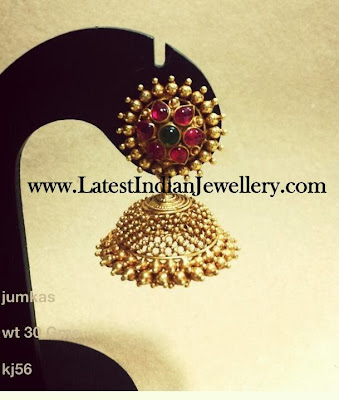 Traditional Gold Jhumka