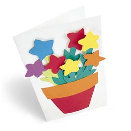 tarjeta de papel con flores