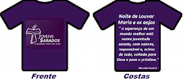 """Camisetas """"Jovens Sarados"""" das Noites de Louvor"""