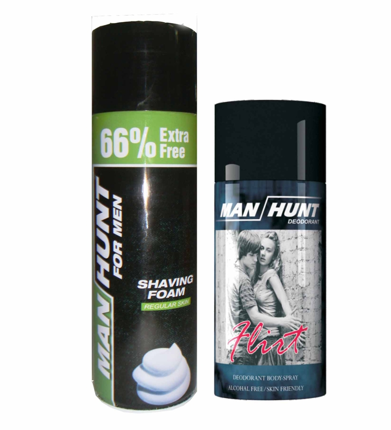 Pepperfry.com is offering Manhunt Deodorant 150 ml And Shaving Foam