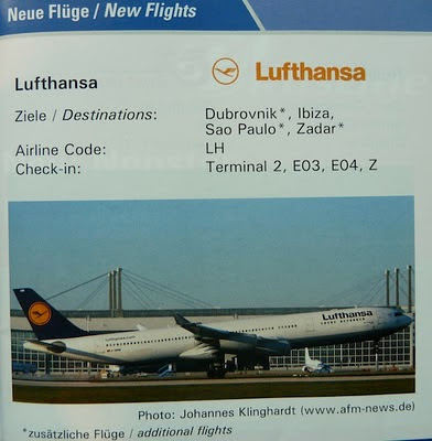 The timetablist lufthansa new flights from munich for Lufthansa direct flights to germany