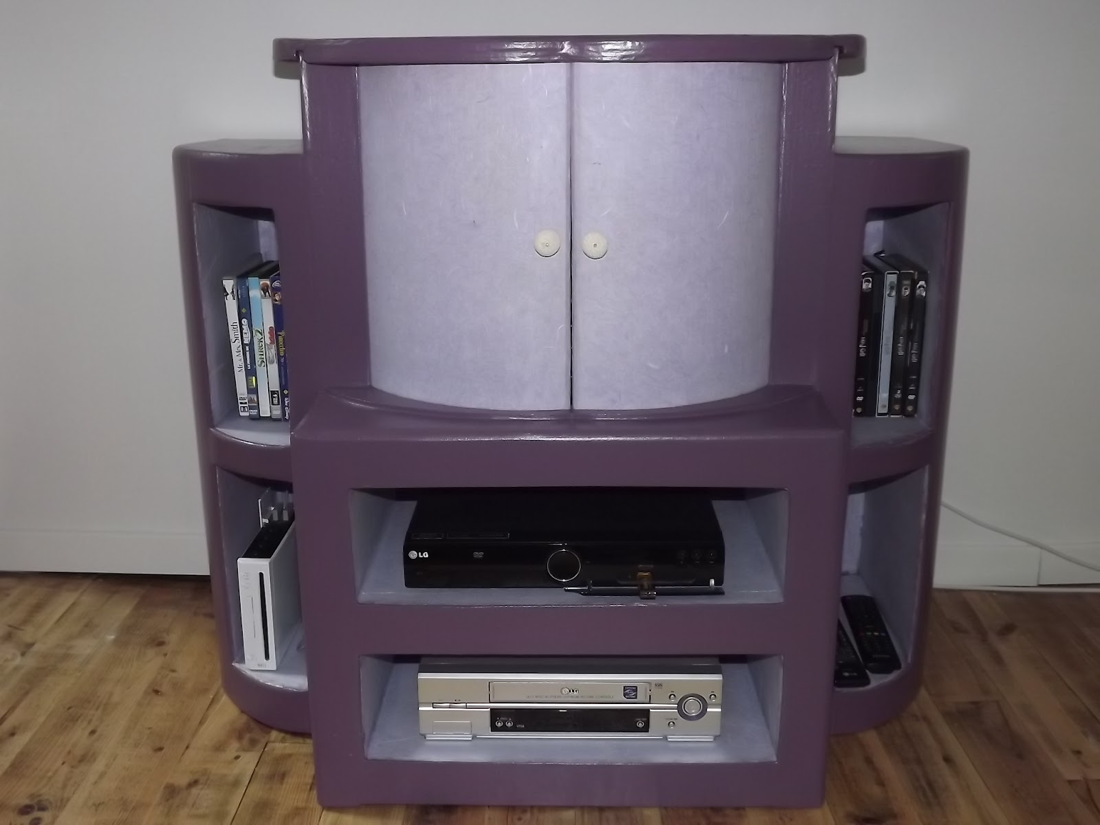Ab carton meubles en carton - Meuble tv porte coulissante ...