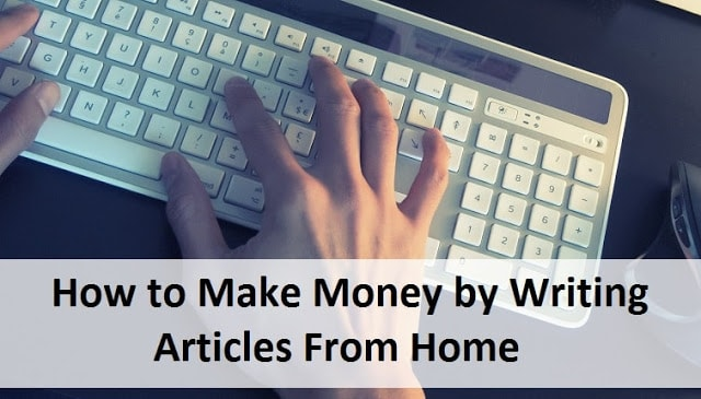 Make money writing articles