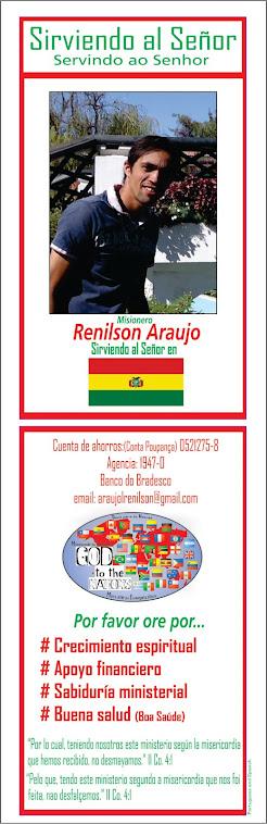 Interceda pelo ministério do  Missionário Renilson Araújo*
