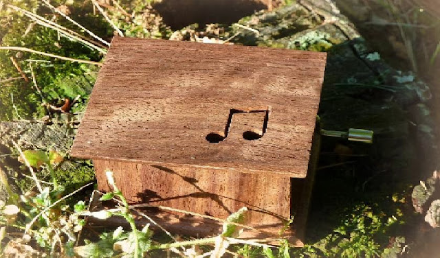 Musical Hand Crank Wooden Box