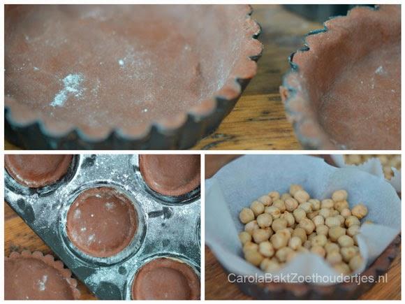 Snelle chocolade karameltaartjes