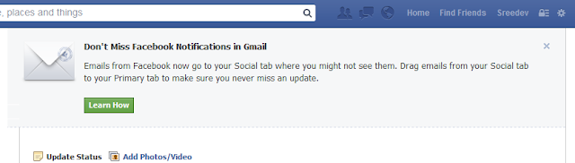 Don't Miss Facebook Notifications in Gmail