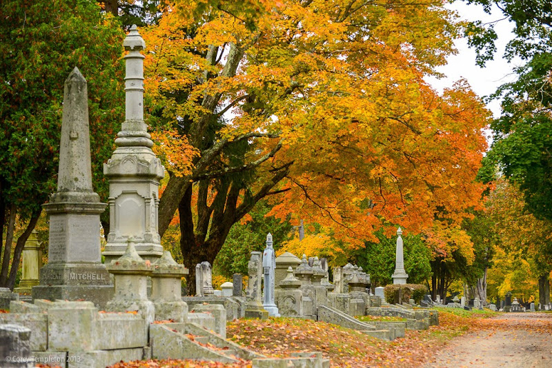 Portland, Maine's Evergreen Cemetery in the Fall. October 2013. Photo by Corey Templeton.
