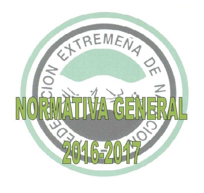 NORMATIVA Y CALENDARIO FEN TEMPORADA 2016/2017