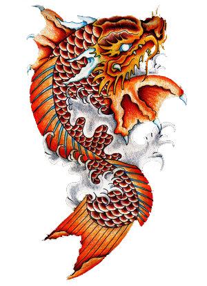 The art of danielle mahaffey coy fish dragon for Koi dragon meaning