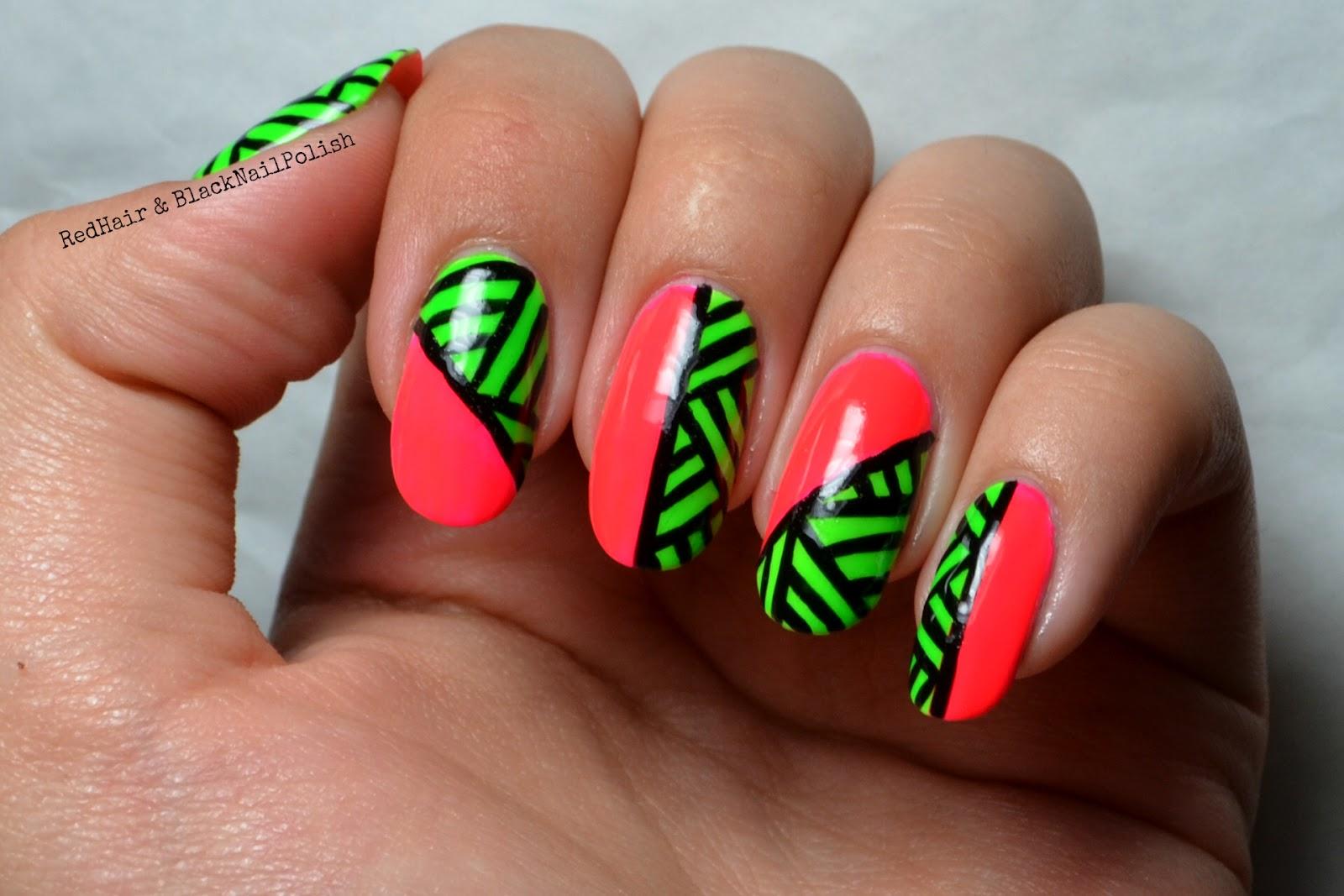 Nail Designs Neon: Neon nails.
